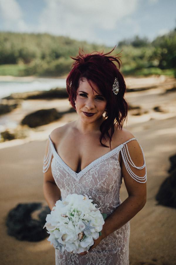 Kauai Beach wedding- Molaa'a Bay-12