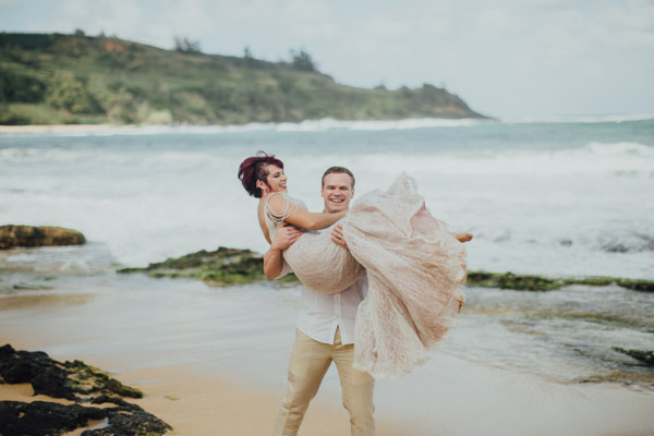 Kauai Beach wedding- Molaa'a Bay-26