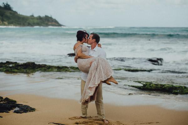 Kauai Beach wedding- Molaa'a Bay-27