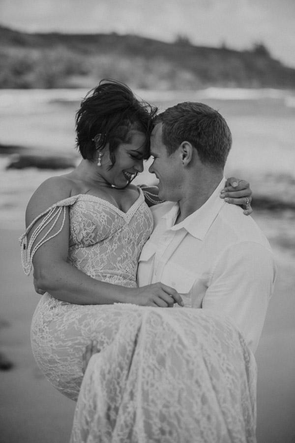 Kauai Beach wedding- Molaa'a Bay-29