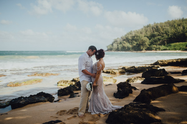 Kauai Beach wedding- Molaa'a Bay-3