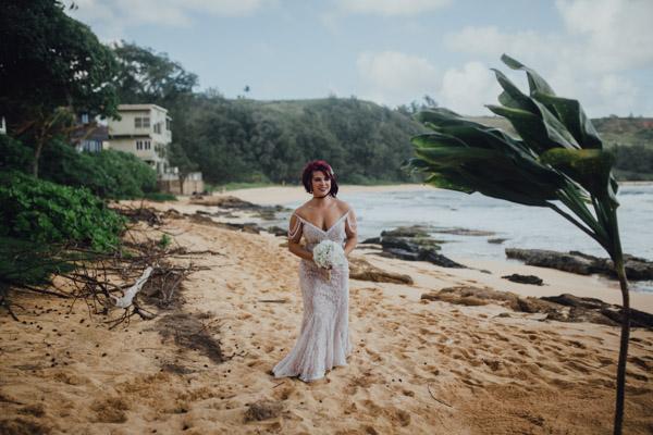 Kauai Beach wedding- Molaa'a Bay-36