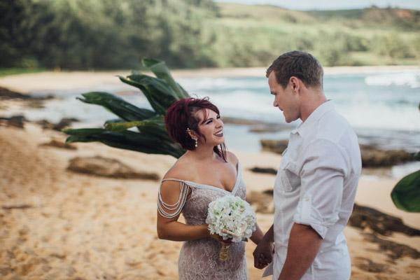Kauai Beach wedding- Molaa'a Bay-40