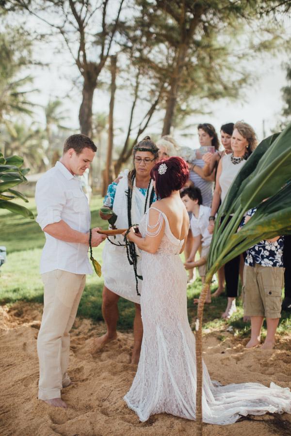 Kauai Beach wedding- Molaa'a Bay-42