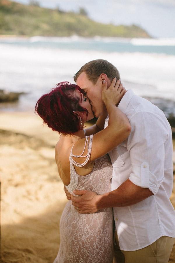 Kauai Beach wedding- Molaa'a Bay-44