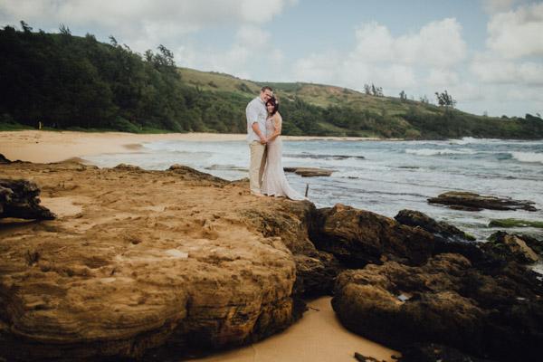 Kauai Beach wedding- Molaa'a Bay-45