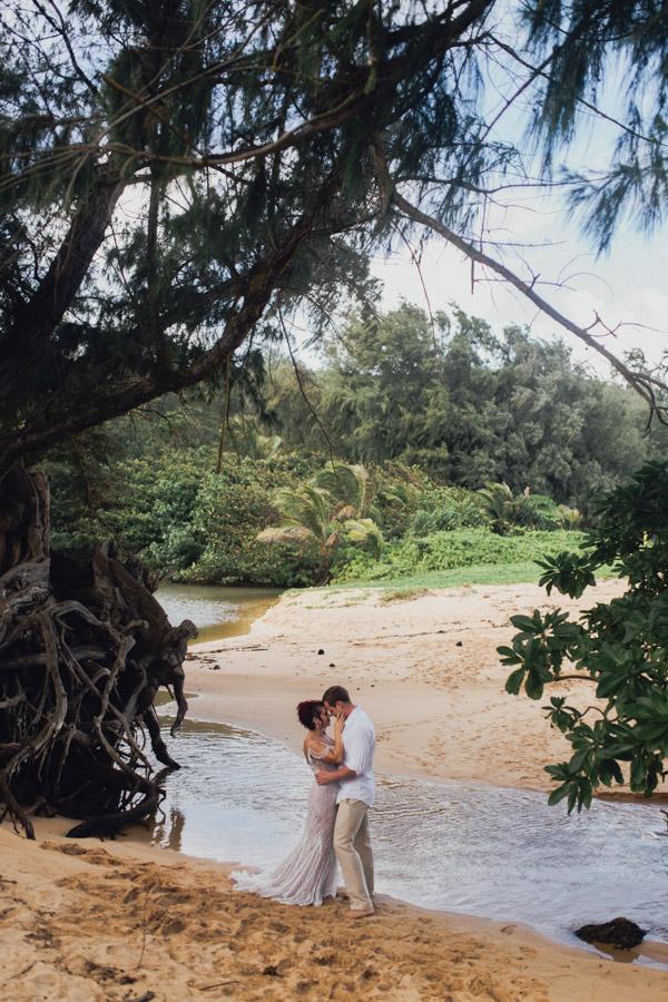Kauai Beach wedding- Molaa'a Bay-53