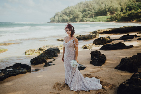 Kauai Beach wedding- Molaa'a Bay-9